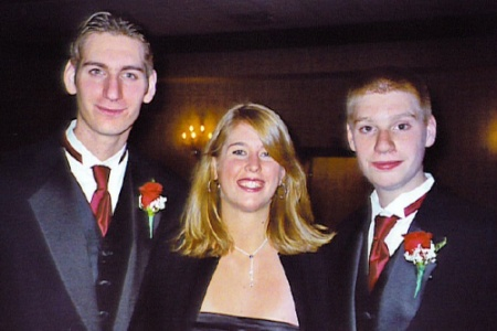 My nephews Devin and Jonny with their cousin Samantha at their Uncle Rick's wedding, Thanksgiving 2005