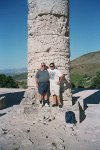 Bill and Dad inside the Greek Temple at Segesta, 06/2001