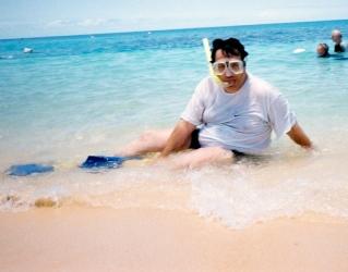snorkeling_bill_on_the_beach