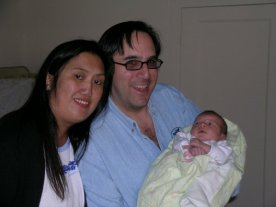 We had the joy of holding three week old Jacob, Michelle and Bell's son, for a while