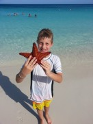 Jake with a Starfish, Aruba Aug. 2013