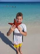 Jake with a Starfish, Aruba Aug. 2013